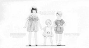 Fig. 10. Trois types d'enfant : le grand frère, la grande soeur et le bébé. Source : J. Walter Thompson Company. 35mm Microfilm Proofs, 1906-1960 and undated. Reel 2.