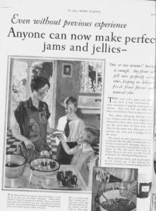 Fig.14.a La cravate, privilège de l'écolier masculin. Publicité pour Certo Pectin (détail), The Ladies' Home Journal, Juin 1927. Source : J. Walter Thompson Company. 35mm Microfilm Proofs, 1906-1960 and undated. Reel 25.