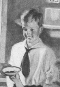 """Fig.14.a. La cravate, privilège de l'écolier masculin qui s'achemine vers l'âge adulte. """"Even without previous experience..."""" Publicité pour Certo Pectin (détail), The Ladies' Home Journal, Juin 1927. Source : J. Walter Thompson Company. 35mm Microfilm Proofs, 1906-1960 and undated. Reel 25."""
