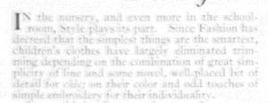 Fig. 8. La crèche et l'école : lieux d'apprentissage pour les enfants ou lieu de représentation sociale pour les mères ? Source : J. Walter Thompson Company. 35mm Microfilm Proofs, 1906-1960 and undated. Reel 2.