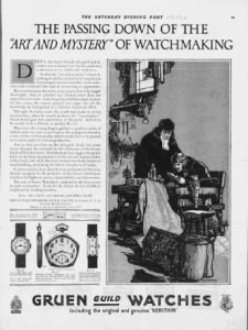 "Fig.6. "" Publicité pour Gruen Guild Watches, v. 1924. Source : J. Walter Thompson Company. 35mm Microfilm Proofs, 1906-1960 and undated. Reel 12."