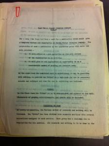 """Projet d'une JWT """"Bible"""" (non daté). Source : JWC Newsletter Collection, 1910-2005, Box MN1"""