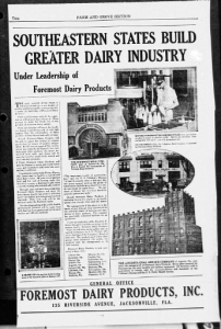 Fig. 22. Publicité pour Foremost Milk. 1929-1930. Source : J. Walter Thompson Company. 35mm Microfilm Proofs, 1906-1960 and undated. Reel 9.