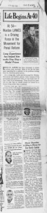 """Fig.2 """"Life Begins at 40"""" (Warden Lawes). The Kansas City Times, Saturday, March 19, 1938. Source : J. Walter Thompson Company. 35mm Microfilm Proofs, 1906-1960 and undated. Reel 49."""