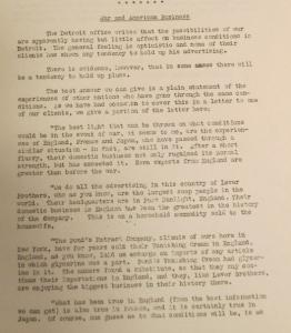 """War and American Business"", Newsbulletin no36, 26 février 1917, p.3–4"