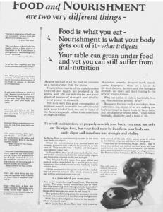 Fig.14. Publicité pour Postum Grape-Nut, Source inconnue, vers 1924.