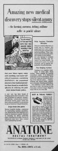 Fig.20. Publicité pour Anatone (Histon Products Company), Source inconnue, vers 1938.