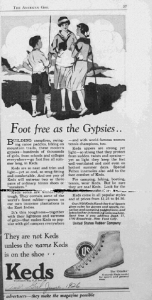 Fig.28. « Foot Free as the Gypsies », American Girl p.37. Source : J. Walter Thompson Company. 35mm Microfilm Proofs, 1906-1960 and undated. Reel 38.