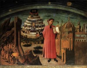Domenico di Michelino (1417-1491), Dante con in mano la Divina Commedia, Santa Maria del Fiore, Florence