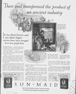 "Fig.36. ""Their zeal Transformed the Product of an Ancient Industry"". Saturday Evening Post. 9 septembre 1927. Source : J. Walter Thompson Company. 35mm Microfilm Proofs, 1906-1960 and undated. Reel 36. La métamorphose miraculeuse opère là encore le passage ou même la fusion de l'ancien et du nouveau, de la tradition et de la modernité, de l'artisanat et de l'industrie."