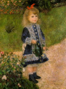Auguste Renoir (1841–1919), A Girl with a Watering Can, 1876, Washington National Gallery of Art, Chester Dale Collection. Source : http://www.nga.gov/collection/gallery/gg83/gg83-46681.html