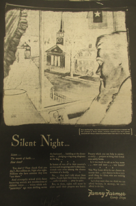 """Fig.33. """"Silent Night"""" - Fanny Farmer Candy Shops. New York Times, 7 juin 1945. Source : Source : J. Walter Thompson Company. World War II Advertising collection, 1940-1948 and undated. Box 2 (Oversize) """"War Bond Advertisements, 1942-1945 and n.d"""""""