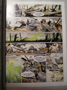 Fig.2. Dorison, Breccia, Les Sentinelles, 2008 (extrait). La Grande Guerre en Bande dessinée. Beaux-Arts Magazine, 2014, p.53.