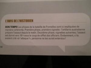 Fig.5b. Antoni, Ormière, Le Temps du rêve, Fromelles, 2013 (commentaire de l'historien). La Grande Guerre en Bande dessinée. Beaux-Arts Magazine, 2014, p.56.