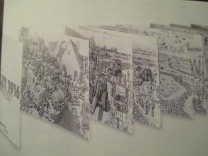Fig.9a. La bataille de la somme en accordéon. La Grande Guerre en Bande dessinée. Beaux-Arts Magazine, 2014, p.41.