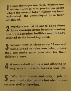 """Fig.74 - """"Civilian Clients' Advertising, Other Than War Bonds, 1941-1945"""" - """"War jobs for women"""""""